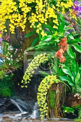 Постер Водопады Multi в саду орхидейВодопады<br>Постер на холсте или бумаге. Любого нужного вам размера. В раме или без. Подвес в комплекте. Трехслойная надежная упаковка. Доставим в любую точку России. Вам осталось только повесить картину на стену!<br>