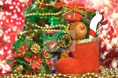 Рождественский чулок, 30x20 см, на бумаге11.18 День рождения Деда Мороза<br>Постер на холсте или бумаге. Любого нужного вам размера. В раме или без. Подвес в комплекте. Трехслойная надежная упаковка. Доставим в любую точку России. Вам осталось только повесить картину на стену!<br>