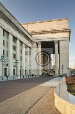 Постер Филадельфия 30 street stationФиладельфия<br>Постер на холсте или бумаге. Любого нужного вам размера. В раме или без. Подвес в комплекте. Трехслойная надежная упаковка. Доставим в любую точку России. Вам осталось только повесить картину на стену!<br>