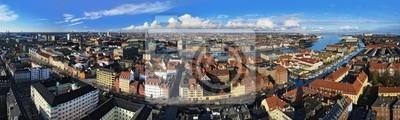 Постер Копенгаген Большая панорама Копенгаген, ДанияКопенгаген<br>Постер на холсте или бумаге. Любого нужного вам размера. В раме или без. Подвес в комплекте. Трехслойная надежная упаковка. Доставим в любую точку России. Вам осталось только повесить картину на стену!<br>