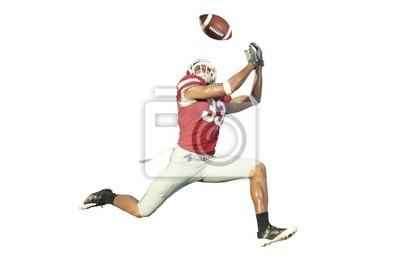 Футбольный игрок ловит мяч в воздухе, 30x20 см, на бумагеАмериканский футбол<br>Постер на холсте или бумаге. Любого нужного вам размера. В раме или без. Подвес в комплекте. Трехслойная надежная упаковка. Доставим в любую точку России. Вам осталось только повесить картину на стену!<br>