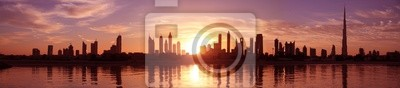 Постер ОАЭ Cityscape Dubai, ЗакатОАЭ<br>Постер на холсте или бумаге. Любого нужного вам размера. В раме или без. Подвес в комплекте. Трехслойная надежная упаковка. Доставим в любую точку России. Вам осталось только повесить картину на стену!<br>