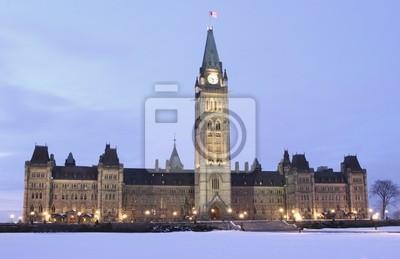 Постер Оттава Канадский парламент в сумерках, ОттаваОттава<br>Постер на холсте или бумаге. Любого нужного вам размера. В раме или без. Подвес в комплекте. Трехслойная надежная упаковка. Доставим в любую точку России. Вам осталось только повесить картину на стену!<br>