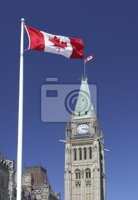 Постер Оттава Канадский флаг и парламента, ОттаваОттава<br>Постер на холсте или бумаге. Любого нужного вам размера. В раме или без. Подвес в комплекте. Трехслойная надежная упаковка. Доставим в любую точку России. Вам осталось только повесить картину на стену!<br>