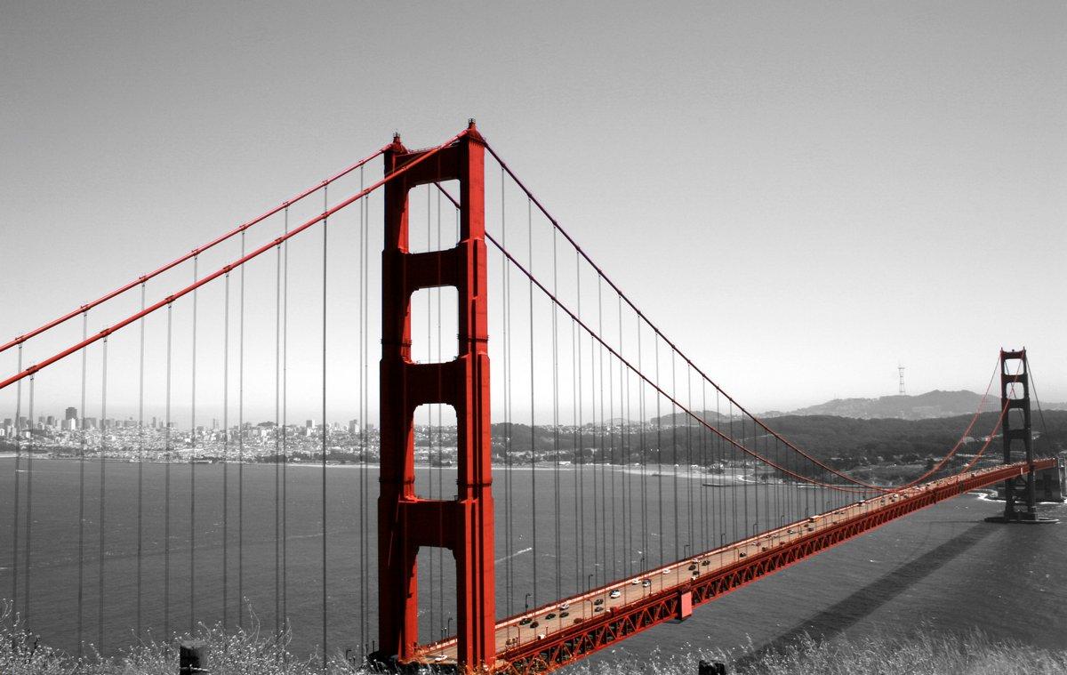 Постер Сан-Франциско Мост Золотые Ворота, 32x20 см, на бумагеСан-Франциско<br>Постер на холсте или бумаге. Любого нужного вам размера. В раме или без. Подвес в комплекте. Трехслойная надежная упаковка. Доставим в любую точку России. Вам осталось только повесить картину на стену!<br>