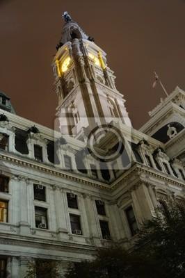 Постер Филадельфия Philadelphia City Hall часовая Башня НочьюФиладельфия<br>Постер на холсте или бумаге. Любого нужного вам размера. В раме или без. Подвес в комплекте. Трехслойная надежная упаковка. Доставим в любую точку России. Вам осталось только повесить картину на стену!<br>