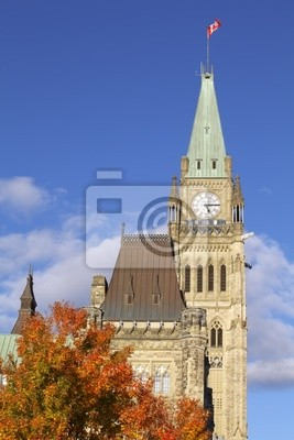 Парламент Канады осенью, Мир Башня, 20x30 см, на бумагеОттава<br>Постер на холсте или бумаге. Любого нужного вам размера. В раме или без. Подвес в комплекте. Трехслойная надежная упаковка. Доставим в любую точку России. Вам осталось только повесить картину на стену!<br>