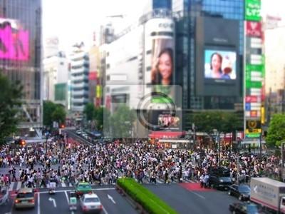 Постер Япония Токио пешеходном переходеЯпония<br>Постер на холсте или бумаге. Любого нужного вам размера. В раме или без. Подвес в комплекте. Трехслойная надежная упаковка. Доставим в любую точку России. Вам осталось только повесить картину на стену!<br>