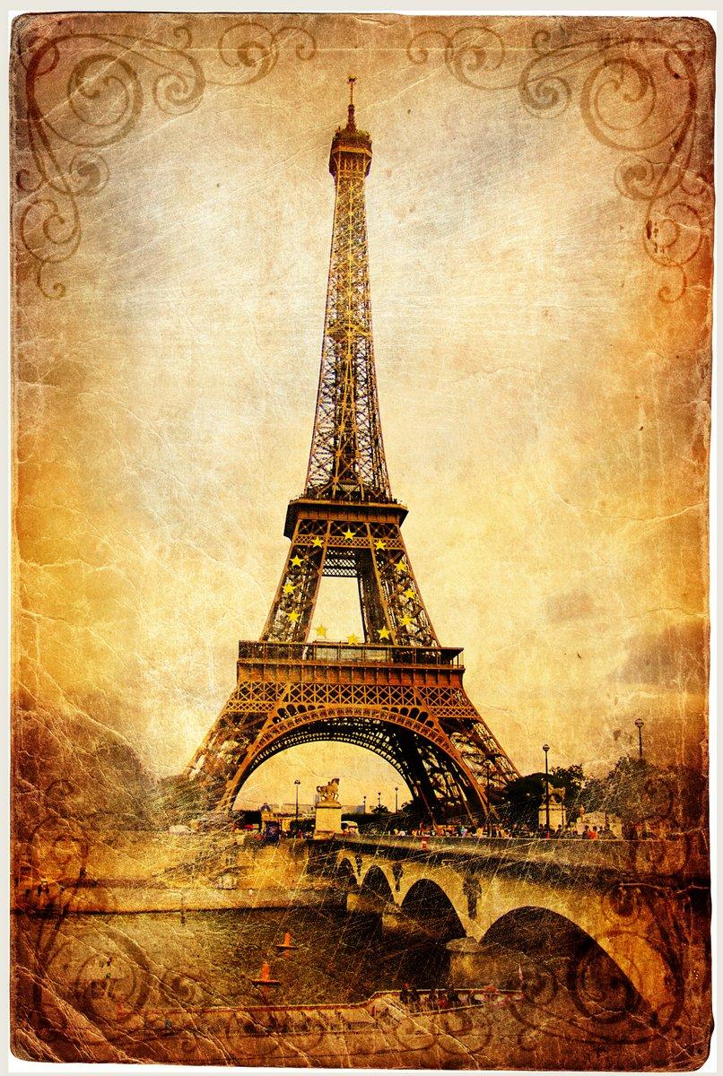 Постер Париж Эйфелева башня - ретро картинкиПариж<br>Постер на холсте или бумаге. Любого нужного вам размера. В раме или без. Подвес в комплекте. Трехслойная надежная упаковка. Доставим в любую точку России. Вам осталось только повесить картину на стену!<br>