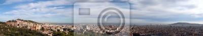 Постер Города и карты Панорамный Вид на Город Барселона, Испания, 111x20 см, на бумагеБарселона<br>Постер на холсте или бумаге. Любого нужного вам размера. В раме или без. Подвес в комплекте. Трехслойная надежная упаковка. Доставим в любую точку России. Вам осталось только повесить картину на стену!<br>