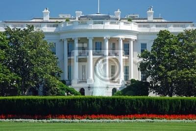 Постер Вашингтон Белый Дом в Вашингтоне с красивое голубое небоВашингтон<br>Постер на холсте или бумаге. Любого нужного вам размера. В раме или без. Подвес в комплекте. Трехслойная надежная упаковка. Доставим в любую точку России. Вам осталось только повесить картину на стену!<br>