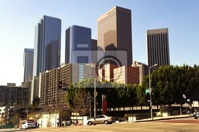 Постер Лос-Анджелес Los Angeles downtown в Солнечный деньЛос-Анджелес<br>Постер на холсте или бумаге. Любого нужного вам размера. В раме или без. Подвес в комплекте. Трехслойная надежная упаковка. Доставим в любую точку России. Вам осталось только повесить картину на стену!<br>