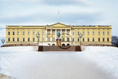 Постер Осло Королевский дворец в Осло, НорвегияОсло<br>Постер на холсте или бумаге. Любого нужного вам размера. В раме или без. Подвес в комплекте. Трехслойная надежная упаковка. Доставим в любую точку России. Вам осталось только повесить картину на стену!<br>