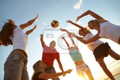 Постер Волейбол Волейбол на пляжеВолейбол<br>Постер на холсте или бумаге. Любого нужного вам размера. В раме или без. Подвес в комплекте. Трехслойная надежная упаковка. Доставим в любую точку России. Вам осталось только повесить картину на стену!<br>
