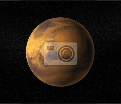 Постер Космос - разные постеры Вид планеты МарсКосмос - разные постеры<br>Постер на холсте или бумаге. Любого нужного вам размера. В раме или без. Подвес в комплекте. Трехслойная надежная упаковка. Доставим в любую точку России. Вам осталось только повесить картину на стену!<br>
