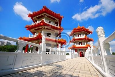 Постер Сингапур Китайский храм в СингапуреСингапур<br>Постер на холсте или бумаге. Любого нужного вам размера. В раме или без. Подвес в комплекте. Трехслойная надежная упаковка. Доставим в любую точку России. Вам осталось только повесить картину на стену!<br>