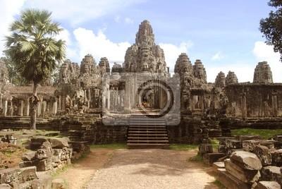 Постер Камбоджа Храм Байон, Ангкор, КамбоджаКамбоджа<br>Постер на холсте или бумаге. Любого нужного вам размера. В раме или без. Подвес в комплекте. Трехслойная надежная упаковка. Доставим в любую точку России. Вам осталось только повесить картину на стену!<br>