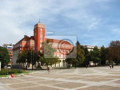 Постер Болгария City hall в Плевен, БолгарияБолгария<br>Постер на холсте или бумаге. Любого нужного вам размера. В раме или без. Подвес в комплекте. Трехслойная надежная упаковка. Доставим в любую точку России. Вам осталось только повесить картину на стену!<br>