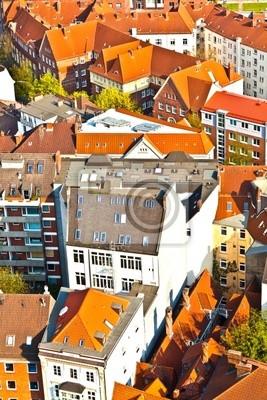 Облик города Гамбурга от знаменитой башни Михаэлис, 20x30 см, на бумагеГамбург<br>Постер на холсте или бумаге. Любого нужного вам размера. В раме или без. Подвес в комплекте. Трехслойная надежная упаковка. Доставим в любую точку России. Вам осталось только повесить картину на стену!<br>