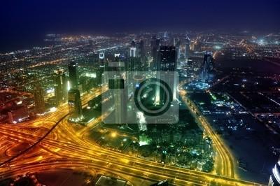 Постер Дубай Панорама города Дубай ночьюДубай<br>Постер на холсте или бумаге. Любого нужного вам размера. В раме или без. Подвес в комплекте. Трехслойная надежная упаковка. Доставим в любую точку России. Вам осталось только повесить картину на стену!<br>