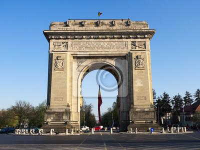Постер Румыния Триумфальная АРКА В Бухаресте, РумынияРумыния<br>Постер на холсте или бумаге. Любого нужного вам размера. В раме или без. Подвес в комплекте. Трехслойная надежная упаковка. Доставим в любую точку России. Вам осталось только повесить картину на стену!<br>