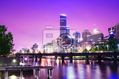 Постер Австралия Ночь Городского Горизонта Города. Мельбурн. АвстралияАвстралия<br>Постер на холсте или бумаге. Любого нужного вам размера. В раме или без. Подвес в комплекте. Трехслойная надежная упаковка. Доставим в любую точку России. Вам осталось только повесить картину на стену!<br>