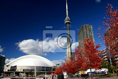 Постер Торонто CN Tower и Роджер-Центра Во время Падения, 30x20 см, на бумагеТоронто<br>Постер на холсте или бумаге. Любого нужного вам размера. В раме или без. Подвес в комплекте. Трехслойная надежная упаковка. Доставим в любую точку России. Вам осталось только повесить картину на стену!<br>