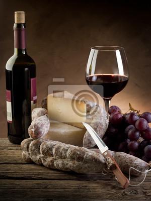 Постер Еда и напитки Сыр, салями винограда и Красного вина, 20x27 см, на бумагеСыр<br>Постер на холсте или бумаге. Любого нужного вам размера. В раме или без. Подвес в комплекте. Трехслойная надежная упаковка. Доставим в любую точку России. Вам осталось только повесить картину на стену!<br>