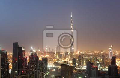 Постер Дубай Downtown Dubai ночью, Объединенные Арабские ЭмиратыДубай<br>Постер на холсте или бумаге. Любого нужного вам размера. В раме или без. Подвес в комплекте. Трехслойная надежная упаковка. Доставим в любую точку России. Вам осталось только повесить картину на стену!<br>