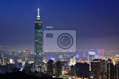 Постер Тайвань Город Тайбэй ночная сценаТайвань<br>Постер на холсте или бумаге. Любого нужного вам размера. В раме или без. Подвес в комплекте. Трехслойная надежная упаковка. Доставим в любую точку России. Вам осталось только повесить картину на стену!<br>