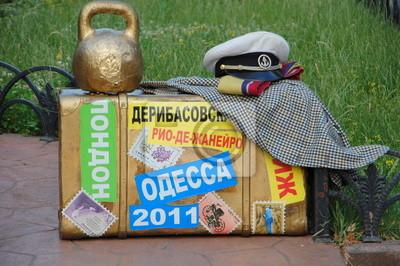 Постер Одесса Стиллизированные вещи символа Одессы Остапа БендераОдесса<br>Постер на холсте или бумаге. Любого нужного вам размера. В раме или без. Подвес в комплекте. Трехслойная надежная упаковка. Доставим в любую точку России. Вам осталось только повесить картину на стену!<br>