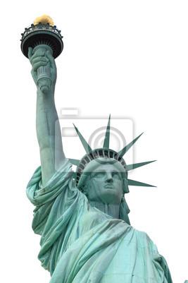 Постер Нью-Йорк Статуя Свободы, изолированных на белый, Нью-ЙоркНью-Йорк<br>Постер на холсте или бумаге. Любого нужного вам размера. В раме или без. Подвес в комплекте. Трехслойная надежная упаковка. Доставим в любую точку России. Вам осталось только повесить картину на стену!<br>