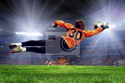 Постер Спорт Футбол goalman на поле стадиона, 30x20 см, на бумагеФутбол<br>Постер на холсте или бумаге. Любого нужного вам размера. В раме или без. Подвес в комплекте. Трехслойная надежная упаковка. Доставим в любую точку России. Вам осталось только повесить картину на стену!<br>