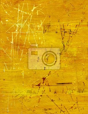 Постер Goldfarbe auf holzplatte zerkratztАбстракция<br>Постер на холсте или бумаге. Любого нужного вам размера. В раме или без. Подвес в комплекте. Трехслойная надежная упаковка. Доставим в любую точку России. Вам осталось только повесить картину на стену!<br>