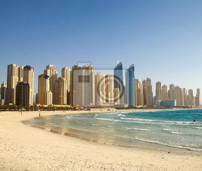 Постер ОАЭ Пляж в Дубае. Панорамный вид.ОАЭ<br>Постер на холсте или бумаге. Любого нужного вам размера. В раме или без. Подвес в комплекте. Трехслойная надежная упаковка. Доставим в любую точку России. Вам осталось только повесить картину на стену!<br>