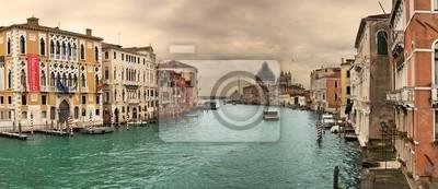 Постер Венеция Панорамный вид на Гранд-Канал.Венеция<br>Постер на холсте или бумаге. Любого нужного вам размера. В раме или без. Подвес в комплекте. Трехслойная надежная упаковка. Доставим в любую точку России. Вам осталось только повесить картину на стену!<br>