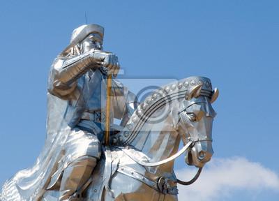 Постер Монголия Статуя Чингис-ХанаМонголия<br>Постер на холсте или бумаге. Любого нужного вам размера. В раме или без. Подвес в комплекте. Трехслойная надежная упаковка. Доставим в любую точку России. Вам осталось только повесить картину на стену!<br>