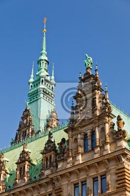 Постер Гамбург Ратуша в ГамбургеГамбург<br>Постер на холсте или бумаге. Любого нужного вам размера. В раме или без. Подвес в комплекте. Трехслойная надежная упаковка. Доставим в любую точку России. Вам осталось только повесить картину на стену!<br>