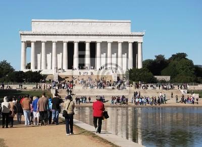Постер Города и карты Мемориал Линкольна в Вашингтоне, округ Колумбия, США, 27x20 см, на бумагеВашингтон<br>Постер на холсте или бумаге. Любого нужного вам размера. В раме или без. Подвес в комплекте. Трехслойная надежная упаковка. Доставим в любую точку России. Вам осталось только повесить картину на стену!<br>