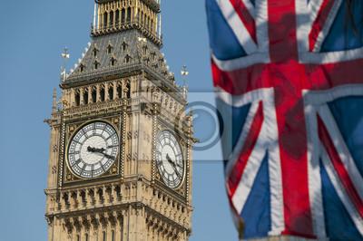 Постер Англия Союз Флаг и Биг БенАнглия<br>Постер на холсте или бумаге. Любого нужного вам размера. В раме или без. Подвес в комплекте. Трехслойная надежная упаковка. Доставим в любую точку России. Вам осталось только повесить картину на стену!<br>