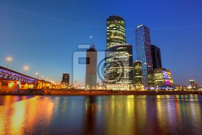 Постер Москва-Сити Москва-СитиМосква-Сити<br>Постер на холсте или бумаге. Любого нужного вам размера. В раме или без. Подвес в комплекте. Трехслойная надежная упаковка. Доставим в любую точку России. Вам осталось только повесить картину на стену!<br>