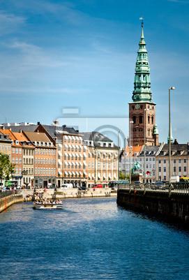 Постер Копенгаген КопенгагенКопенгаген<br>Постер на холсте или бумаге. Любого нужного вам размера. В раме или без. Подвес в комплекте. Трехслойная надежная упаковка. Доставим в любую точку России. Вам осталось только повесить картину на стену!<br>