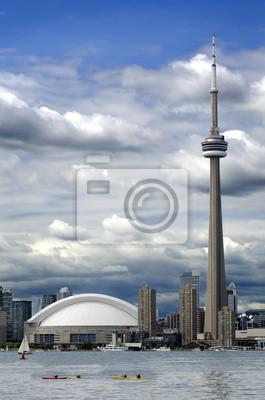 Постер Торонто Торонто город с CN towerТоронто<br>Постер на холсте или бумаге. Любого нужного вам размера. В раме или без. Подвес в комплекте. Трехслойная надежная упаковка. Доставим в любую точку России. Вам осталось только повесить картину на стену!<br>