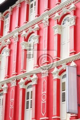 Постер Сингапур Красный корпус и белые окна из Сингапура Китай-городСингапур<br>Постер на холсте или бумаге. Любого нужного вам размера. В раме или без. Подвес в комплекте. Трехслойная надежная упаковка. Доставим в любую точку России. Вам осталось только повесить картину на стену!<br>