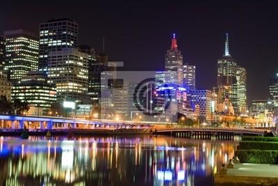 Постер Мельбурн Мельбурн ночью, АвстралияМельбурн<br>Постер на холсте или бумаге. Любого нужного вам размера. В раме или без. Подвес в комплекте. Трехслойная надежная упаковка. Доставим в любую точку России. Вам осталось только повесить картину на стену!<br>