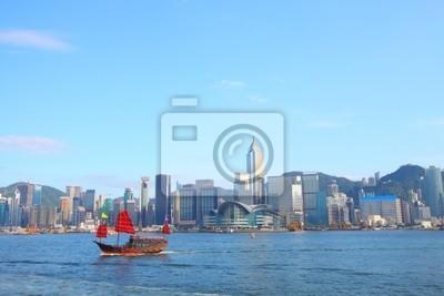 Постер Гонконг Мусор лодку в Гонконге на Гавань ВикторияГонконг<br>Постер на холсте или бумаге. Любого нужного вам размера. В раме или без. Подвес в комплекте. Трехслойная надежная упаковка. Доставим в любую точку России. Вам осталось только повесить картину на стену!<br>