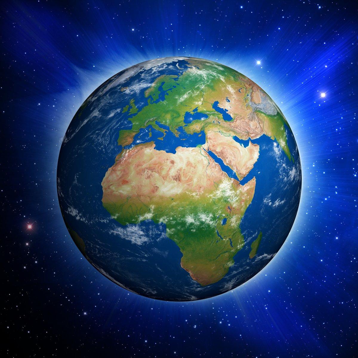 Постер Космос - разные постеры Планета Земля, показывая, Европы и АфрикиКосмос - разные постеры<br>Постер на холсте или бумаге. Любого нужного вам размера. В раме или без. Подвес в комплекте. Трехслойная надежная упаковка. Доставим в любую точку России. Вам осталось только повесить картину на стену!<br>