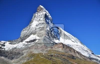 Постер Швейцария Гора Маттерхорн в Альпах, ШвейцарияШвейцария<br>Постер на холсте или бумаге. Любого нужного вам размера. В раме или без. Подвес в комплекте. Трехслойная надежная упаковка. Доставим в любую точку России. Вам осталось только повесить картину на стену!<br>