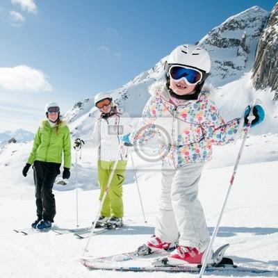 Постер Горные лыжи