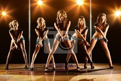 Постер Танец Пять женщин-шоуТанец<br>Постер на холсте или бумаге. Любого нужного вам размера. В раме или без. Подвес в комплекте. Трехслойная надежная упаковка. Доставим в любую точку России. Вам осталось только повесить картину на стену!<br>